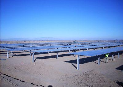 Centrale photovoltaïque au Désert de Mojave